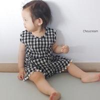 슈크림(CHOUCREAM)-504420664<br>Size: S(6~12m)~M(12~18m)<br>Color: black check<br>Update: 2019-06-28